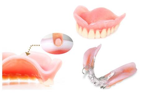 歯茎部分のクッションで、強く噛めて痛みを緩和