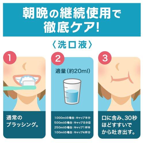 洗口液のケア方法